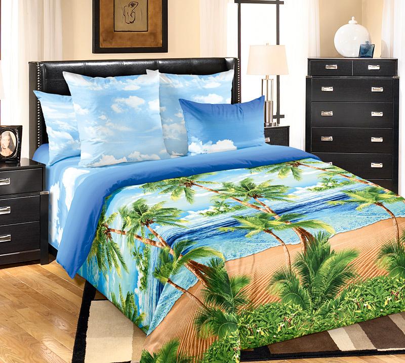 Комплект белья Текс-Дизайн Пляж, 2-спальный, наволочки 70х702250ПВеликолепное постельное белье Текс-Дизайн Пляж выполнено из высококачественного перкаля (100% хлопок) и украшено оригинальным принтом. Комплект состоит из пододеяльника, простыни и двух наволочек. Перкаль - это тонкая и легкая хлопчатобумажная ткань высокой плотности полотняного переплетения, сотканная из пряжи высоких номеров. При изготовлении перкаля используются длинноволокнистые сорта хлопка, что обеспечивает высокие потребительские свойства материала. Несмотря на свою утонченность, перкаль очень практичен - это одна из самых износостойких тканей для постельного белья.