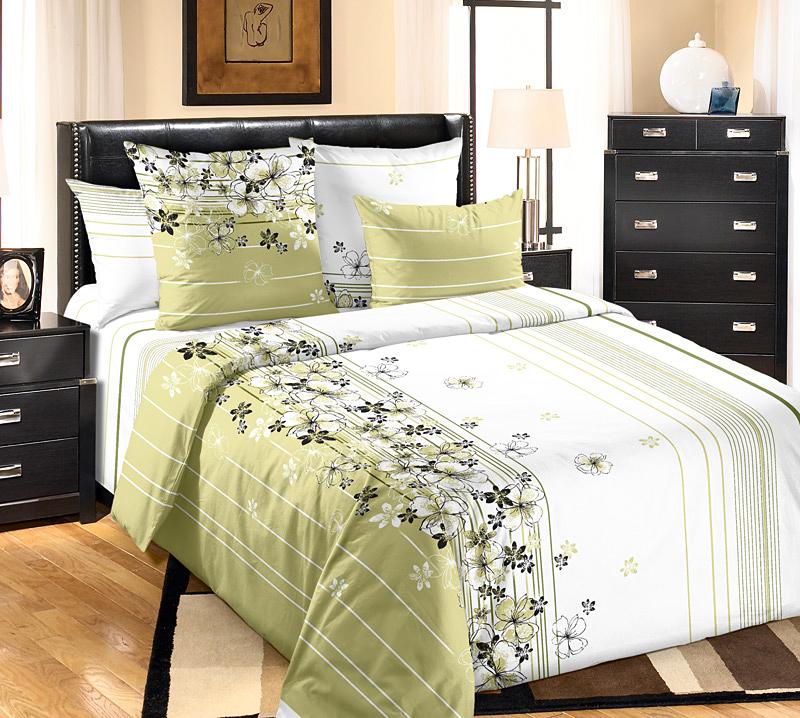 Комплект белья Белиссимо Пальмира 2, семейный, наволочки 70х70, цвет: зеленый, белый6120БВеликолепное постельное белье Белиссимо Пальмира выполнено из высококачественной бязи (100% хлопок) и украшено ассиметричным цветочным рисунком. Комплект состоит из двух пододеяльников, простыни и двух наволочек. Бязь - хлопчатобумажная плотная ткань полотняного переплетения. Отличается прочностью и стойкостью к многочисленным стиркам. Бязь считается одной из наиболее подходящих тканей, для производства постельного белья и пользуется в России большим спросом.