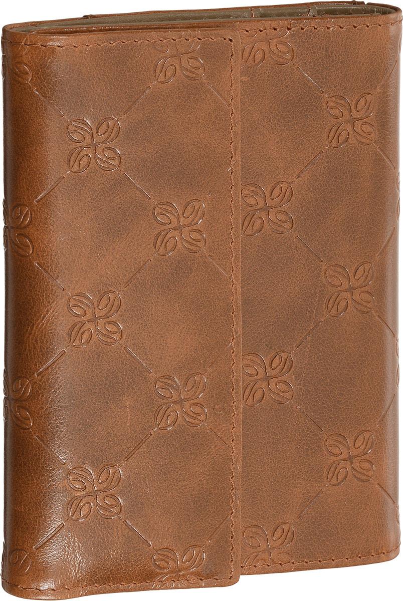 Бумажник водителя Dimanche Louis Brun, цвет: коричневый. 596596Бумажник водителя Dimanche Louis Brun изготовлен из натуральной кожи коричневого цвета с декоративным тиснением. Закрывается при помощи клапана на магнитную кнопку. Внутри содержится съемный блок из 5 прозрачных пластиковых файлов для автодокументов, 5 карманов для пластиковых карт и 2 потайных кармана для мелких бумаг. С внешней стороны на задней стенке расположен дополнительный открытый карман. Стильный бумажник не только защитит ваши документы, но и станет стильным аксессуаром, подчеркивающим ваш образ. Изделие упаковано в фирменную коробку коричневого цвета с логотипом фирмы Dimanche.