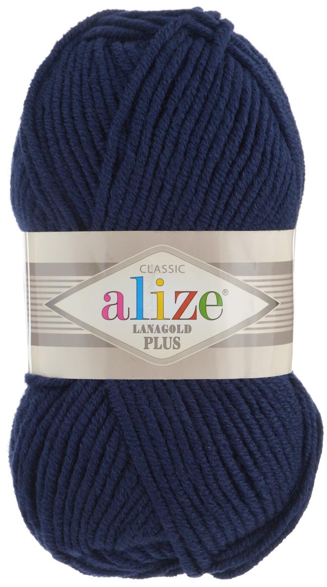 Пряжа для вязания Alize Lana Gold Plus, цвет: темно-синий (58), 140 м, 100 г, 5 шт695158_58Пряжа Alize Lana Gold Plus - это полюбившаяся всем рукодельницам полушерстяная пряжа, которая прекрасно подойдет для вязания теплых вещей: уютных свитеров и мягких кофт, удобных и стильных платьев и сарафанов, ярких шарфов и шапочек. Сбалансированный состав пряжи Alize Lana Gold Plus позволяет получать мягкие, приятные к телу вещи, хранящие тепло натуральной шерсти и обладающие практичностью акриловой нити. Вязать из полушерстяной теплой пряжи легко и приятно - упругая, плотная нить красиво ложится в любой узор, не слоится и мягко скользит по спицам. Приятная цветовая гамма порадует любителей насыщенных, глубоких оттенков, которые так актуальны зимой. Легкая, мягкая, комфортная. Нить ровная, очень пышная, не линяет и не выгорает, подходит для вязания трикотажных изделий детям и взрослым. Изделия из этой пряжи получаются мягкие, очень легкие, износостойкие. Рекомендуются спицы: 5-7 мм. Комплектация: 5 мотков. Состав: 51% акрил, 49% шерсть.