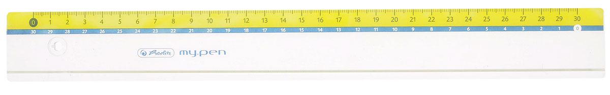 Herlitz Линейка My Pen цвет желтый 30 см11367992_желтыйЛинейка Herlitz My Pen с делениями на 30 см выполнена из прочного пластика, обладает четкой миллиметровой шкалой делений. Линейка удобна для измерения длины и черчения. Подходит для правшей и левшей.