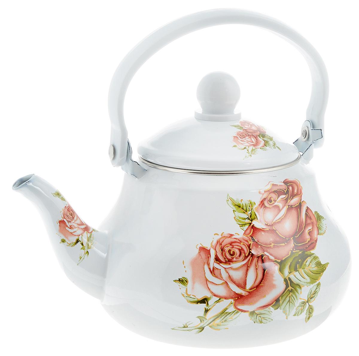Чайник заварочный Mayer & Boch Яркие розы, 1,5 л25618Заварочный чайник Mayer & Boch Яркие розы изготовлен из высококачественной углеродистой стали с эмалированным покрытием. Такое покрытие защищает сталь от коррозии, придает посуде гладкую стекловидную поверхность и надежно защищает от кислот и щелочей. Изделие прекрасно подходит для заваривания вкусного и ароматного чая, травяных настоев. Чайник оснащен сетчатым фильтром, который задерживает чаинки и предотвращает их попадание в чашку. Оригинальный дизайн сделает чайник настоящим украшением стола. Он удобен в использовании и понравится каждому. Подходит для использования на газовых, стеклокерамических, электрических, галогеновых и индукционных плитах. Можно мыть в посудомоечной машине. Диаметр чайника (по верхнему краю): 9,5 см. Высота чайника (без учета крышки): 11 см. Толщина стенок: 8 мм.
