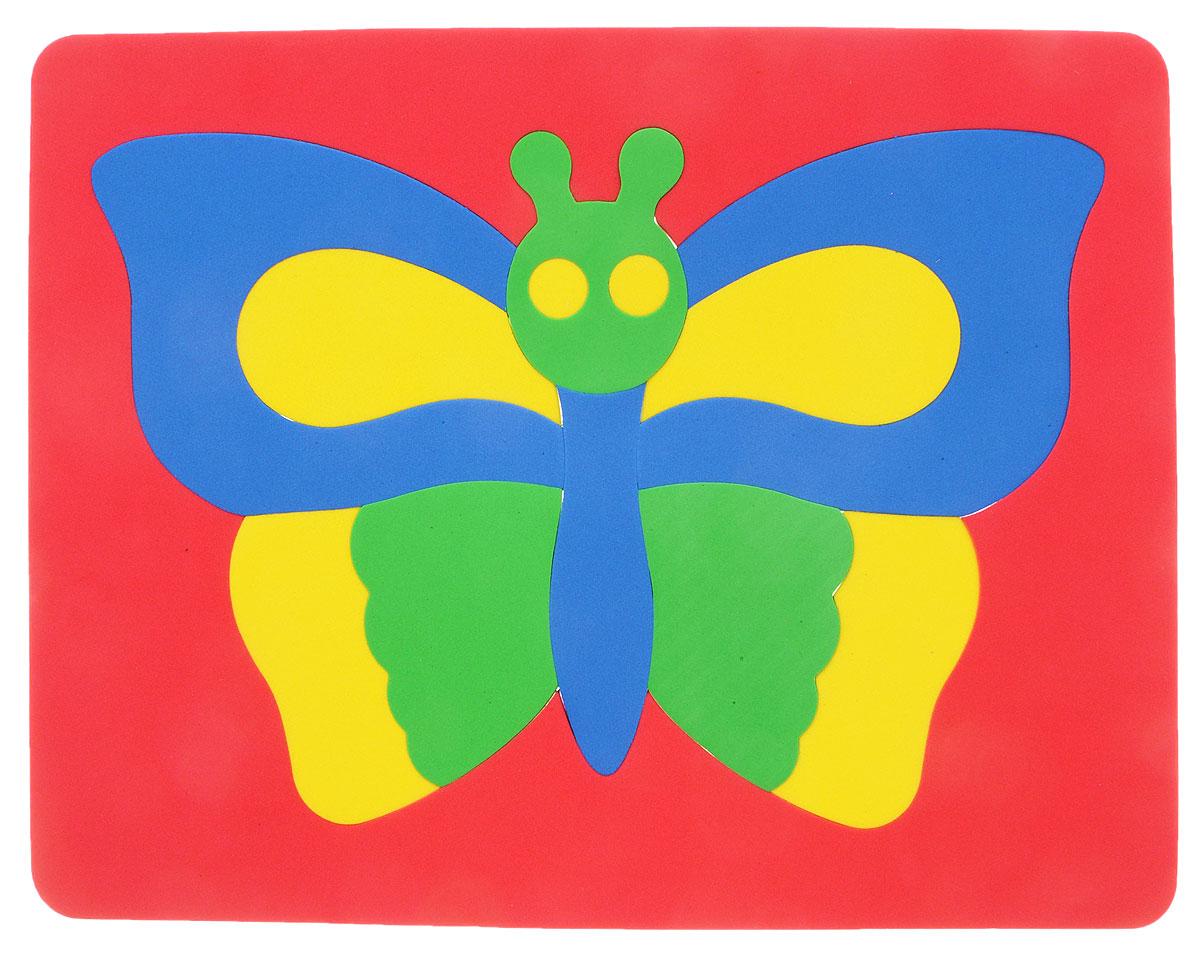 Фантазер Пазл для малышей Бабочка цвет основы красный063551Б_красныйПазл для малышей Фантазер Бабочка выполнен из мягкого полимера, который дает юному конструктору новые удивительные возможности в игре: детали пазла гнутся, но не ломаются, их всегда можно состыковать. Пазл представляет собой основу, в которой собирается яркая бабочка. Ваш ребенок сможет собрать пазл и в ванной. Элементы можно намочить, благодаря чему они будут хорошо прилипать к стене в ванной комнате. Такой пазл развивает пространственное и логическое мышления, память и глазомер, знакомит с формами и цветом предмета в процессе игры.