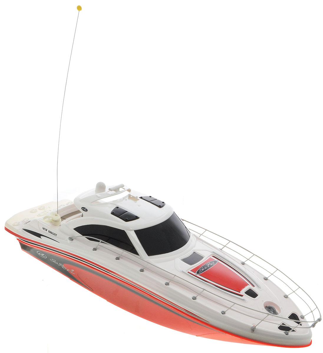 New Bright Катер на радиоуправлении Sea Ray цвет белый красный7185Что может порадовать мальчика больше, чем новая, оригинальная и функциональная радиоуправляемая техника? Пожалуй, с этим видом игрушек трудно конкурировать. Они действительно удивительные, красивые и дарят ребенку ощущение радости, скорости и динамики. Катер на радиоуправлении New Bright Sea Ray поразит своей скоростью и маневренностью и доставит много приятных минут, которые вы сможете провести рядом с вашим юным любителем радиоуправляемых моделей. Катеру найдется место и в ванной и во время отдыха на пляже. Обладая стремительными изгибами корпуса и полнофункциональным управлением, модели будут подвластны любые водоемы! Это настолько захватывает, что ваш ребенок попросту забудет о том, что это всего лишь игрушка!