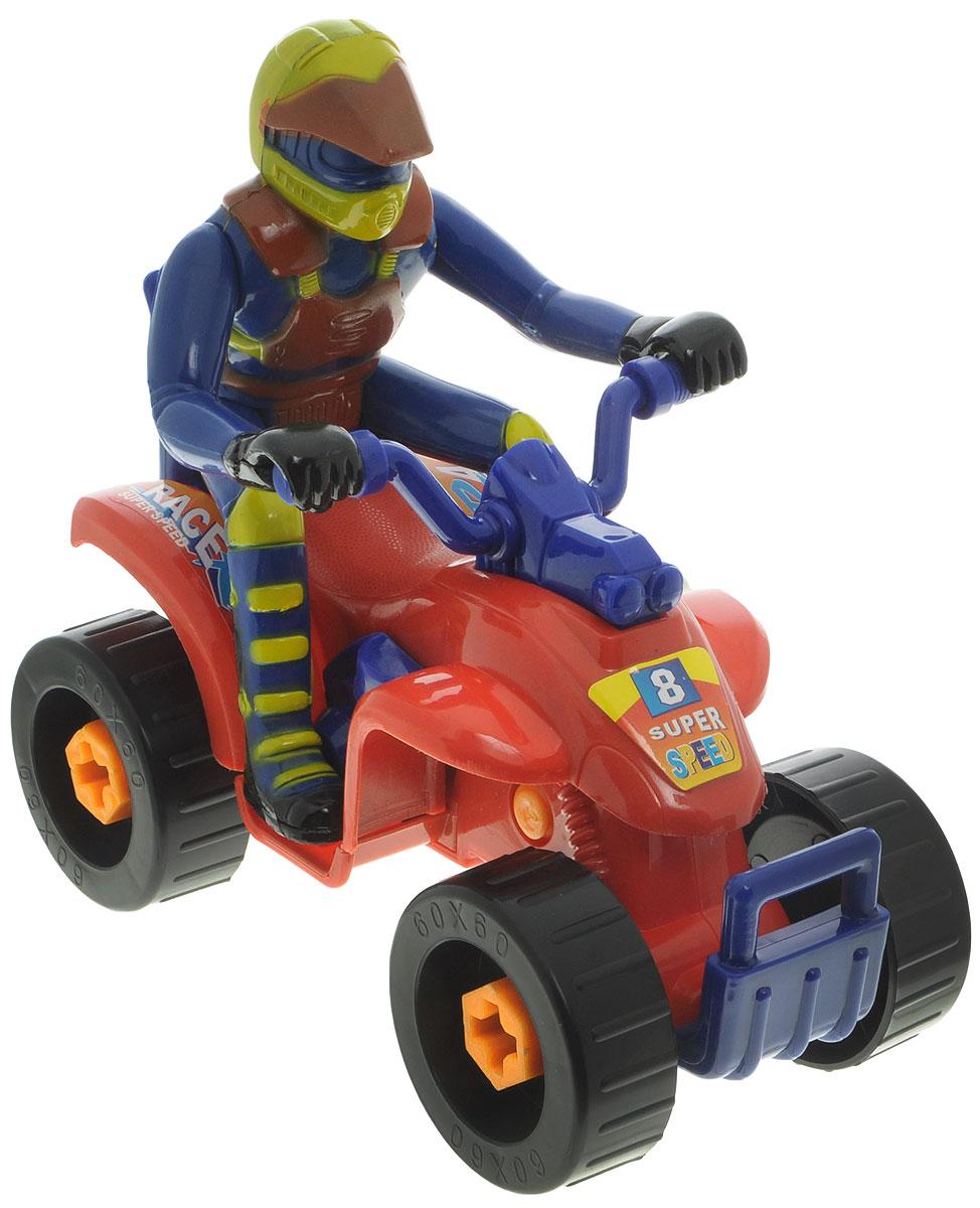 ABtoys Набор инструментов 4 предмета цвет оранжевый красныйPT-00069(WK-9745)_оранжевый, красныйНабор инструментов отлично подойдет для игр ребенка дома и на свежем воздухе. Он выполнен из прочного пластика и включает инерционную дрель, отвертку, квадроцикл и фигурку человека с подвижными руками и ногами. Квадроцикл собирается из 4 шурупов, 4 колес, днища, корпуса и хвостовой части. С помощью входящих в набор инструментов ребенок будет с удовольствием собирать его и вновь разбирать. Сверло дрели крутится при нажатии кнопки на ручке. Для удобства переноски набор аккуратно упакован в удобный пластиковый чемоданчик с ручкой. Ребенок сможет часами играть с этим набором, придумывая разные истории. Порадуйте его таким замечательным подарком!