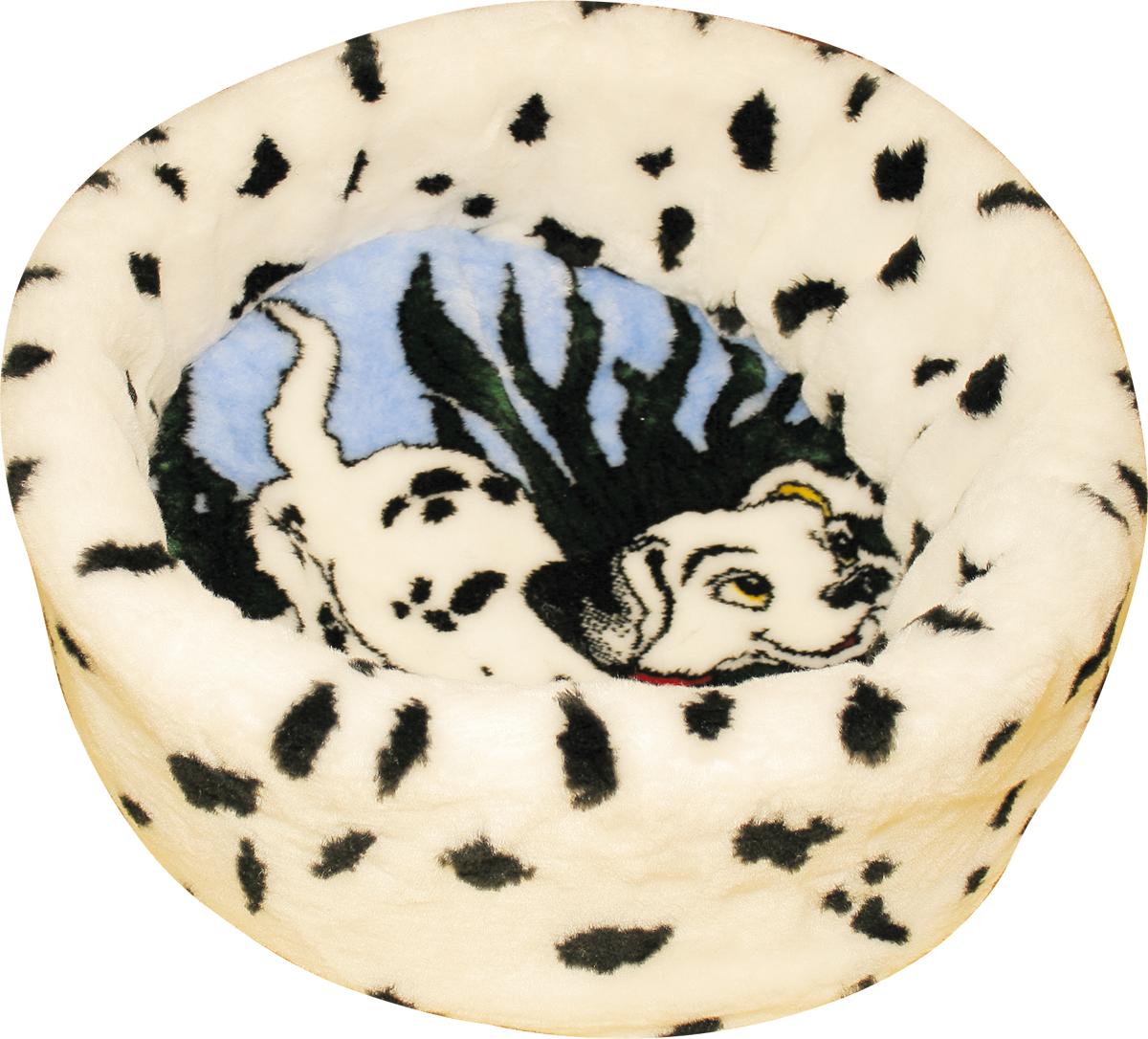Лежак для животных Зооник Далматин, цвет: белый, черный, голубой, 47 х 47 х 17 см22117Мягкий лежак для животных Зооник Далматин обязательно понравится вашему питомцу. Он выполнен из высококачественного искусственного меха бело- черного цвета, а наполнитель - из поролона. Такой материал не теряет своей формы долгое время. Борта и съемная подстилка обеспечат вашему любимцу уют, а форма лежанки позволит удобно расположиться внутри. Лежак Зооник Далматин станет излюбленным местом вашего питомца, подарит ему спокойный и комфортный сон, а также убережет вашу мебель от многочисленной шерсти.