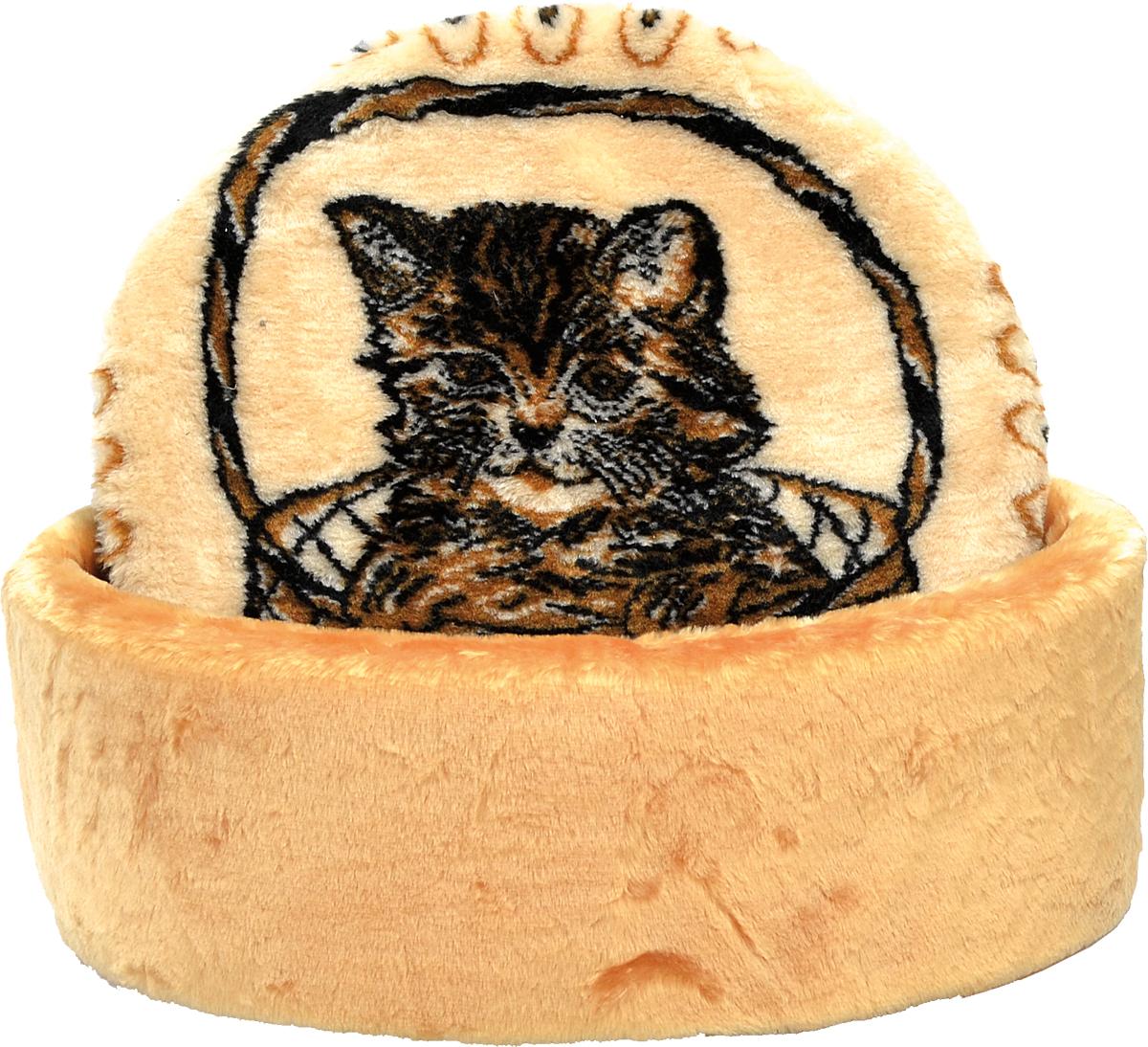 Лежак для животных Зооник Мурзик, цвет: бежевый, коричневый, 45 х 17 см22129Лежак для животных Зооник Мурзик прекрасно подойдет для отдыха вашего домашнего питомца. Предназначен для кошек и собак мелких пород. Изделие выполнено из высококачественного искусственного меха коричневого цвета. Лежак снабжен съемной мягкой подушкой с изображением котенка. Комфортный и уютный лежак обязательно понравится вашему питомцу, животное сможет там отдохнуть и выспаться. Диаметр лежака: 45 см. Высота лежака: 17 см. Состав: искусственный мех.
