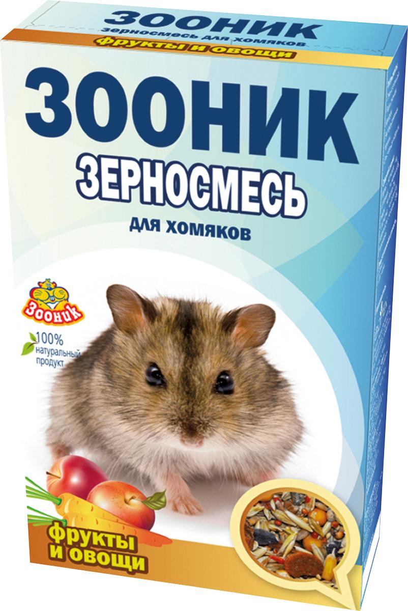 """Корм Зооник """"Стандарт"""", для хомяков, с фруктами и овощами, 400 г"""