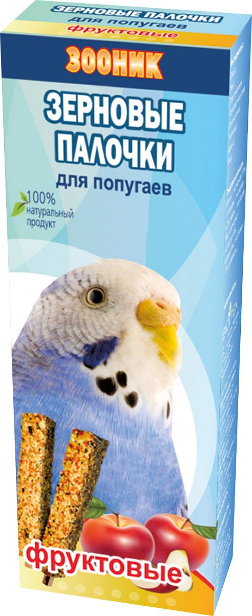 Палочки зерновые Зооник, для волнистых попугаев, фруктовые, 2 шт4017Зерновые палочки Зооник — изготовлены из натуральных компонентов, скрепленных на яичной основе вокруг съедобной деревянной палочки. Входящие в состав фрукты являются дополнительным источником натуральных витаминов. Лакомство является прекрасным и вкусным дополнением к основному рациону вашего питомца. Состав: просо, овес, подсолнечник, канареечное семя, семена льна, пшеница, яблоко, яйцо. Товар сертифицирован.
