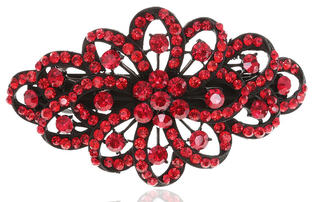 Заколка для волос в византийском стиле от D.Mari. Кристаллы рубинового цвета, бижутерный сплав, черная эмаль. ГонконгFH28549Заколка для волос в византийском стиле от D.Mari. Кристаллы рубинового цвета, бижутерный сплав, черная эмаль. Гонконг. Размер - 11 х 6 см.