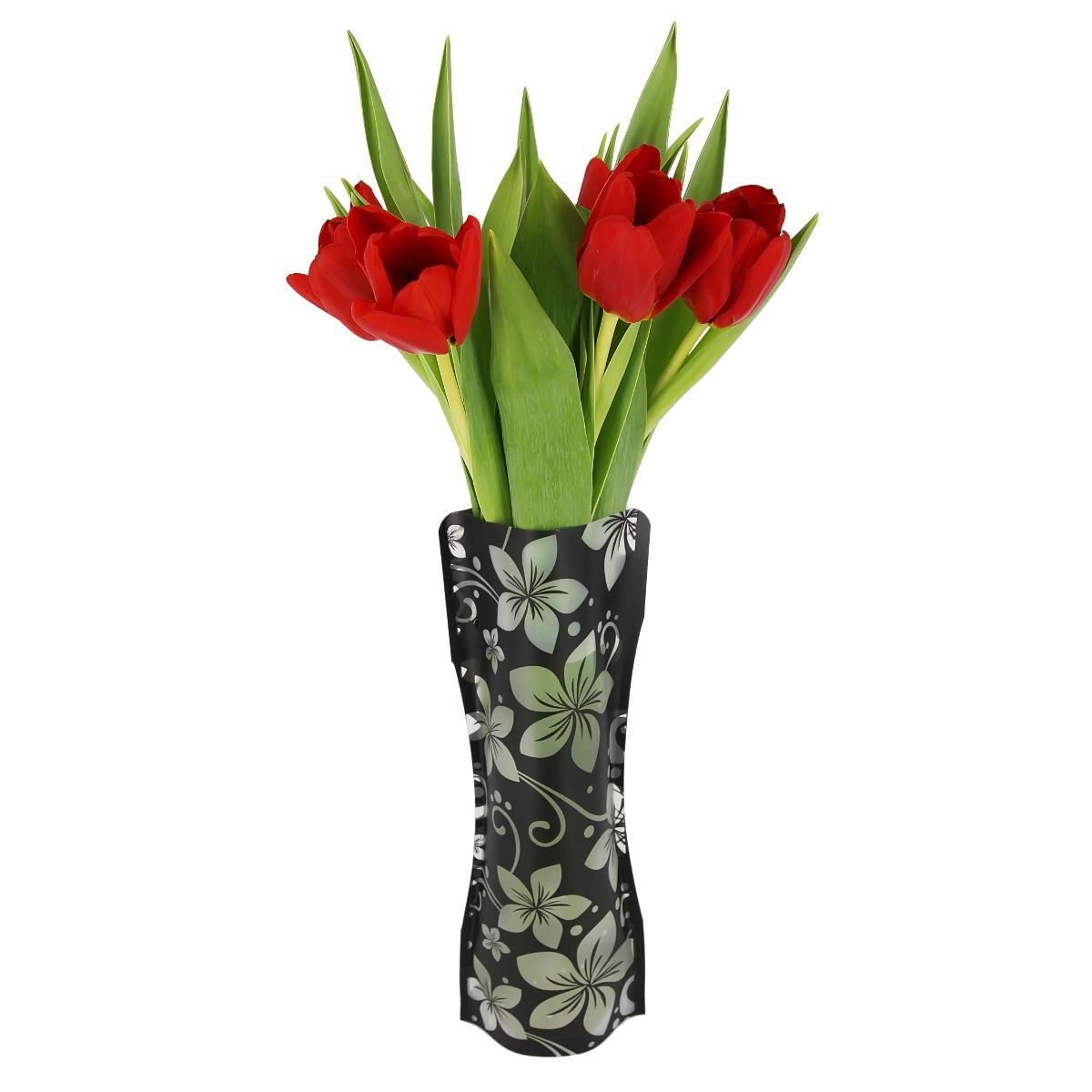 Ваза МастерПроф Черная орхидея, пластичная, 1 лHS.040032Пластичная ваза Черная орхидея легко складывается, удобно хранится - занимает мало места, долго служит. Всегда пригодится дома, в офисе, на даче, для оформления различных меропритятий. Отлично подойдет для перевозки цветов, или просто в подарок. Инструкция: 1. Наполните вазу теплой водой; 2. Дно и стенки расправятся; 3. Вылейте воду; 4. Наполните вазу холодной водой; 5. Вставьте цветы. Меры предосторожности: Хранить вдали от источников тепла и яркого солнечного света. С осторожностью применять для растений с длинными стеблями и с крупными соцветиями, что бы избежать опрокидывания вазы.