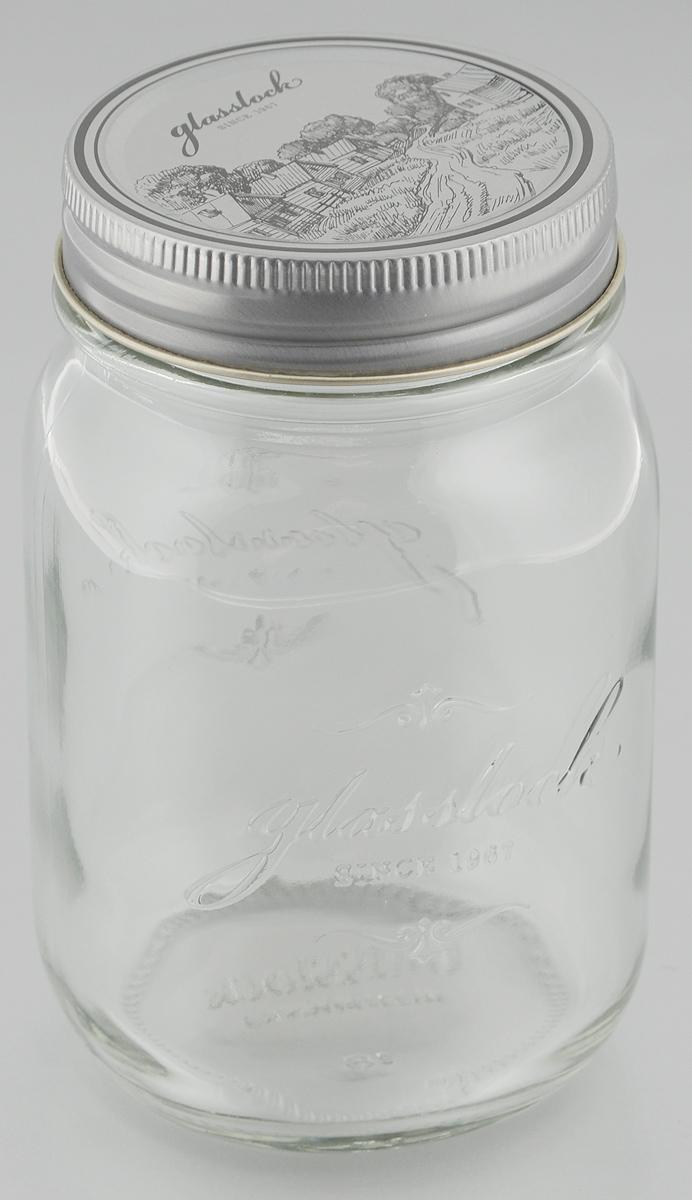 Банка для консервации Glasslock, 500 мл. IP-626IP-626Банка для консервации Glasslock выполнена в винтажном стиле из высококачественного стекла. Металлическая завинчивающаяся крышка украшена рисунком с пейзажем, она придаст изысканности интерьеру кухни. Такая банка идеальна для хранения любых продуктов - джемов, солений, приправ и многого другого. Не рекомендуется мыть в посудомоечной машине и использовать в микроволновой печи. Объем: 500 мл. Диаметр банки по верхнему краю: 6 см. Высота банки (без учета крышки): 13 см.