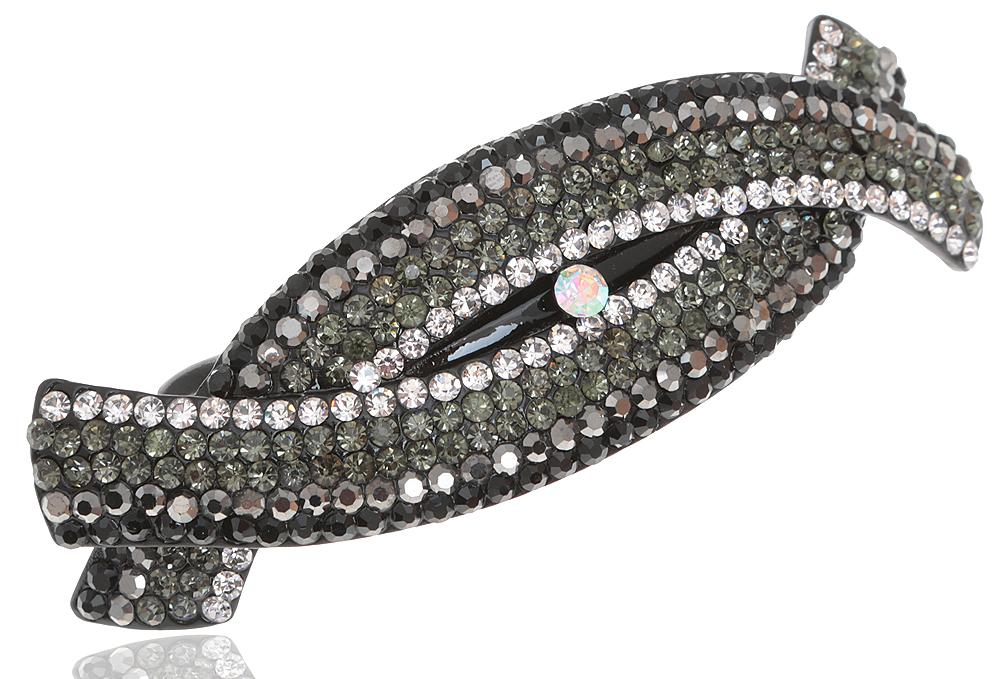 Заколка для волос. Кристалл Aurora Borealis, разноцветные кристаллы, бижутерный сплав серебряного тона. Villa di Mario, ИталияVT 249_розовыйЗаколка для волос. Кристалл Aurora Borealis, разноцветные кристаллы, бижутерный сплав серебряного тона. Villa di Mario, Италия Размер - 10 х 3 см.