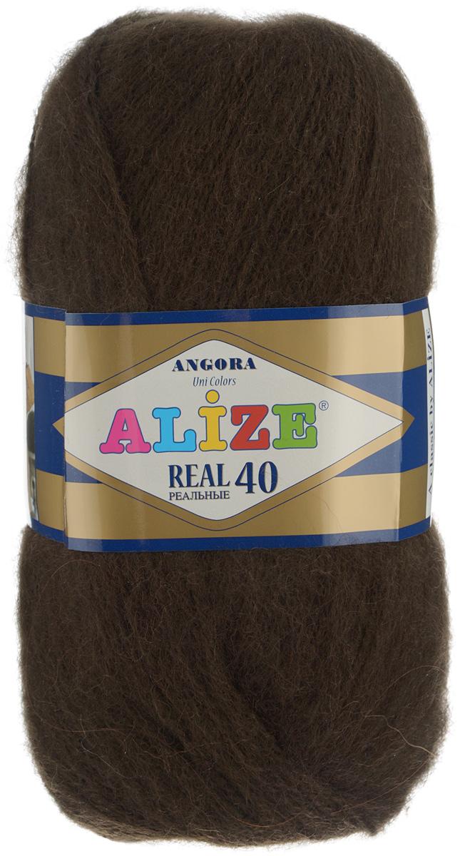 Пряжа для вязания Alize Angora Real, цвет: темно-коричневый (92), 480 м, 100 г, 5 шт551390_92Alize Angora Real - это ровная, тонкая и пушистая пряжа, изготовленная из 60% акрила и 40% шерсти. Нить не вытягивается, достаточно прочная и крепкая. Такая пряжа идеально подойдет для вязания зимних вещей (шарфов, жилетов, пуловеров) с различными ажурными узорами. Вещи, связанные из этой пряжи, хорошо и долго носятся, не линяют. Предназначена для ручного вязания спицами и крючком. Рекомендуемый размер спиц 2,5-5 мм и крючка 1-4 мм.