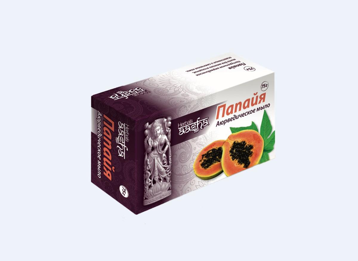 Aasha Herbals мыло твердое Папайя, 75 г841028002979Мыло на основе мякоти папайи, обогащенного витамином Е. Папаин, содержащийся в мякоти папайи, снижает концентрацию меланина и способствует осветлению, отбеливанию кожи. Очищает кожу, обеспечивает мощную антиоксидантную защиту. Для раздраженной и чувствительной кожи.