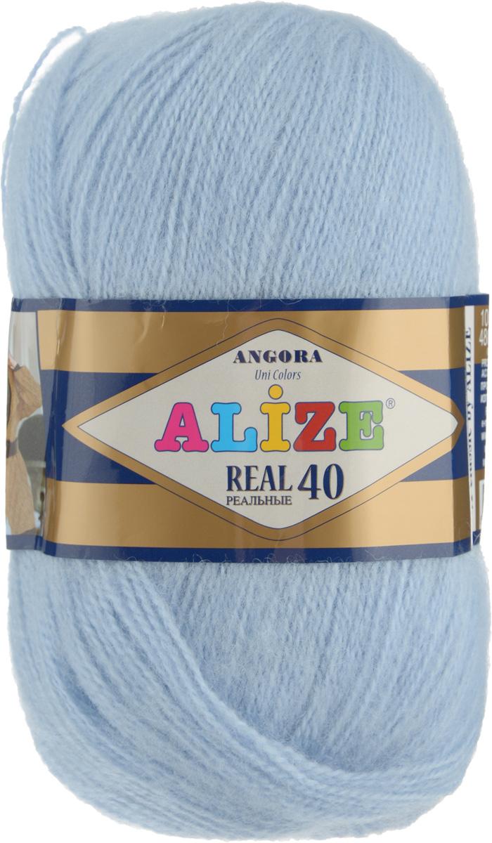 Пряжа для вязания Alize Angora Real, цвет: светло-голубой (51), 480 м, 100 г, 5 шт551390_51Alize Angora Real - это ровная, тонкая и пушистая пряжа, изготовленная из 60% акрила и 40% шерсти. Нить не вытягивается, достаточно прочная и крепкая.Такая пряжа идеально подойдет для вязания зимних вещей (шарфов, жилетов, пуловеров), с различными ажурными узорами. Вещи, связанные из этой пряжи, хорошо и долго носятся, не выгорают и не линяют. Предназначена для ручного вязания спицами и крючком. Рекомендуемый размер спиц: № 2,5-5 мм, Рекомендованный размер крючка: № 1-4 мм. Состав: 60% акрил, 40% шерсть.