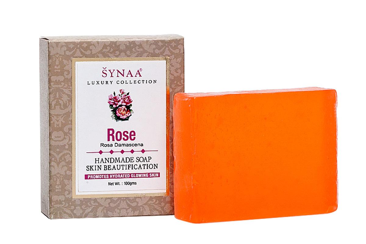 Synaa мыло ручной работы Роза, 100 г841028005543Мыло ручной работы, обогащенное экстрактом розы, витамином Е и кокосовым маслом. Эффективно очищает кожу от излишков кожного сала и грязи, обеспечивает антисептическую защиту, успокаивает раздраженную кожу, снимает покраснения. Тонизирует и освежает кожу, делает ее гладкой и бархатистой