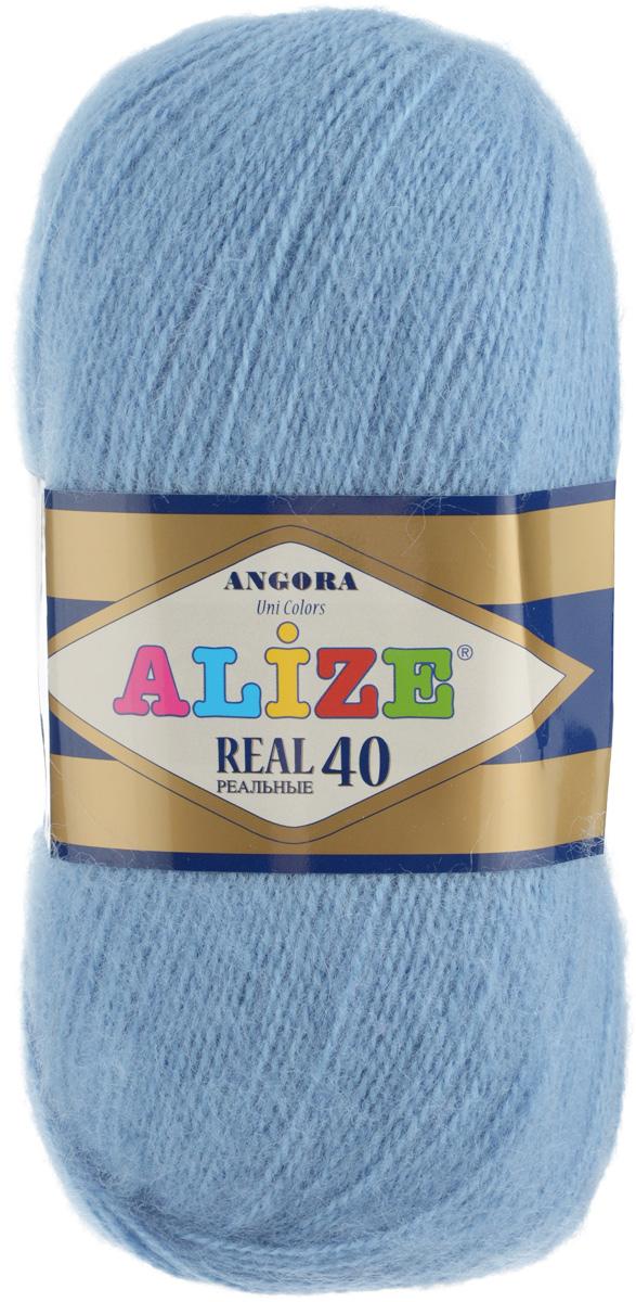 Пряжа для вязания Alize Angora Real, цвет: серо-голубой (342), 480 м, 100 г, 5 шт551390_342Alize Angora Real - это ровная, тонкая и пушистая пряжа, изготовленная из 60% акрила и 40% шерсти. Нить не вытягивается, достаточно прочная и крепкая. Такая пряжа идеально подойдет для вязания зимних вещей (шарфов, жилетов, пуловеров) с различными ажурными узорами. Вещи, связанные из этой пряжи, хорошо и долго носятся, не линяют. Предназначена для ручного вязания спицами и крючком. Рекомендуемый размер спиц 2,5-5 мм и крючка 1-4 мм.