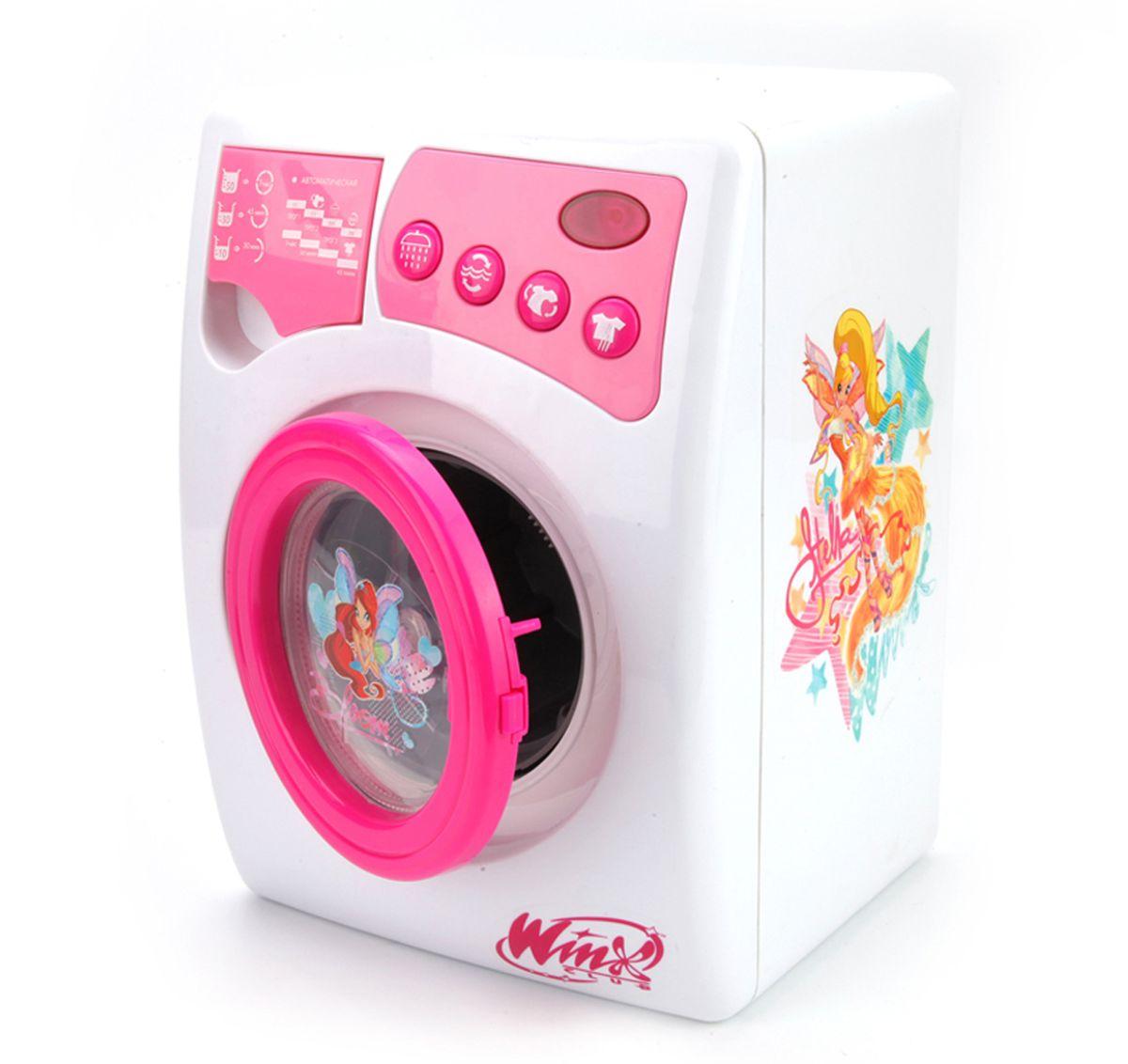 Играем вместе Стиральная машина Winx со светом и звуком14002-RФункциональная и яркая бытовая техника способствует развитию мелкой моторики и воображения, приучит ребенка к трудолюбию и аккуратности. А также станет отличным подарком для юных домохозяек.