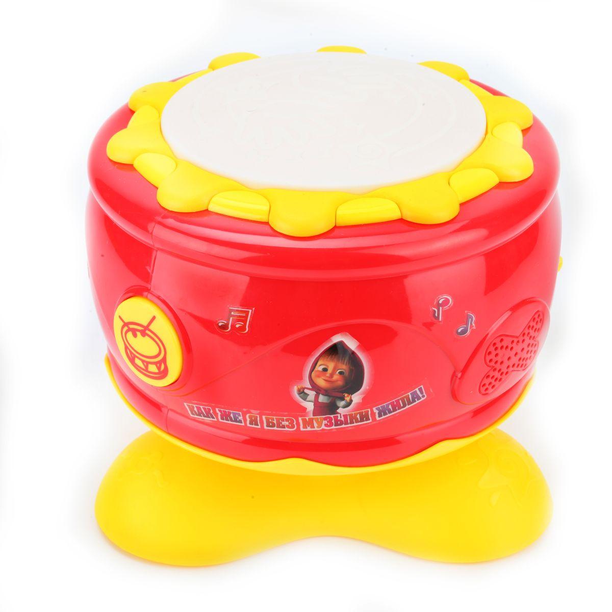 Играем вместе Музыкальный барабан Маша и Медведь со светом и звуком, 3 песни1006-R2Знакомство с яркими и красочными музыкальными инструментами разовьет у ребенка творческие способности и тонкий слух. Инструменты познакомят с музыкальной культурой и займут его воображение на долгое время.