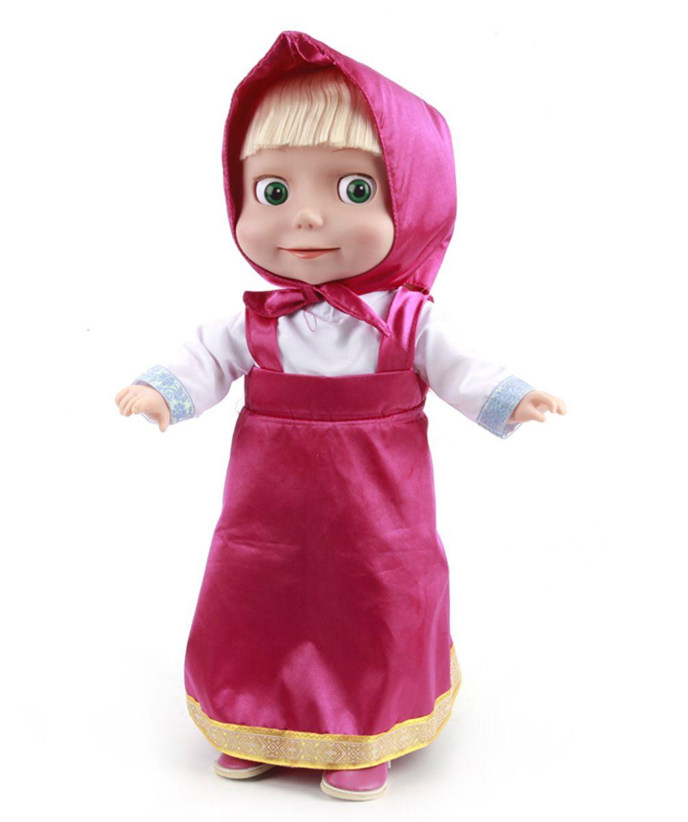 Карапуз Кукла Маша с мимикой83040-RUКукла Маша - героиня известного мультика Маша и Медведь. У этой уникальной куклы подвижная мимика. Она умеет моргать глазками и шевелить губами, когда говорит. Интерактивная кукла Маша станет самой близкой подружкой для любого ребенка, ведь она словно понимает живую, обращенную к ней речь: отвечает на поставленные вопросы, поддерживает разговор, реагирует на определенный перечень фраз. Ее словарный запас составляет более 1000 слов! Кукла способна поддерживать беседу, задавая вопросы, подразумевающие лаконичные однозначные ответы (нет/да), что позволит общаться с ней весьма продолжительное время. Маша - такая заводная! Она поет 6 веселых песенок из мультфильма на все случаи жизни! Песенка Новогодняя, Про варенье, Про дружбу, Про коньки, 3 желания, песенка-икалка. Детям понравится учить стихи вместе с Машей - она знает целых 55 стихотворений! Маша рассказывает 3 русские народные сказки на свой неповторимый лад и знает 21 загадку. Она умеет играть в 4 игры: Загадки в стихах,...