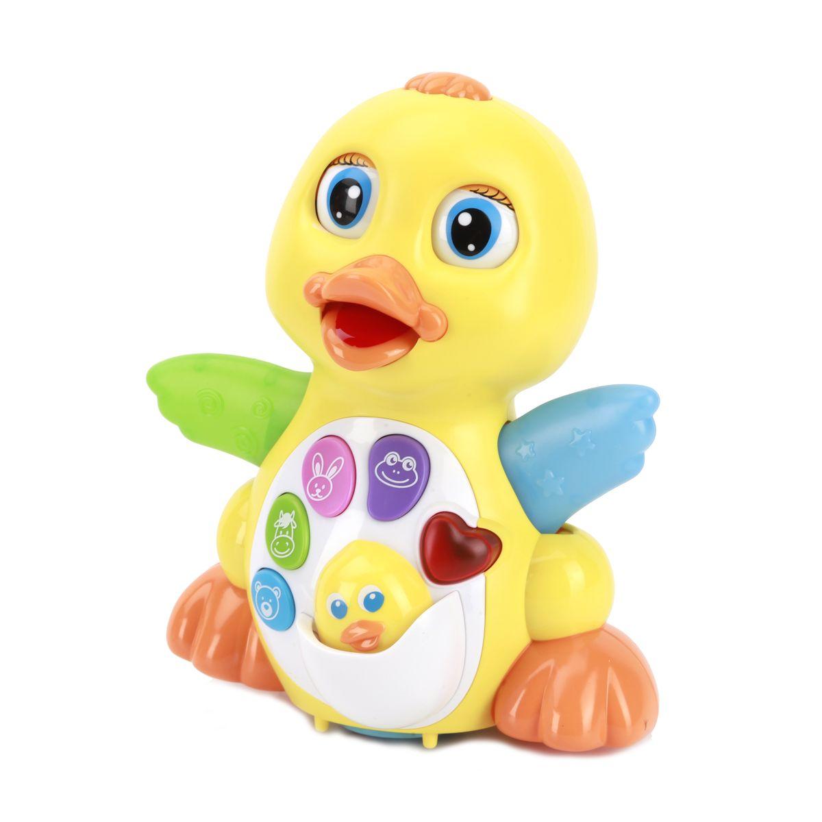 Умка Интерактивная уточкаB655-H04018RUС помощью этой игрушки ваш малыш научится различать цвета, разовьет мелкую моторику, чувство ритма, слуховое и зрительное восприятие.