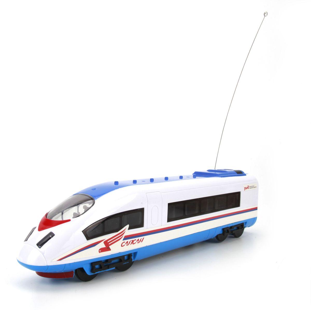 Играем вместе Поезд на радиоуправлении СапсанB921692-R16 каналов управления. Реальные объявления. Звук движущегося поезда.