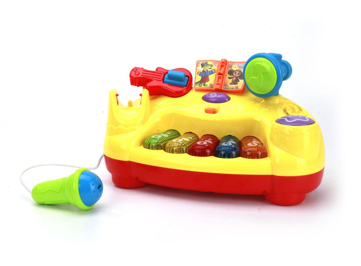 Умка Интерактивное пианино с микрофономB1025830-RИнтерактивное пианино создано специально для самых маленьких! Пять разноцветных светящихся клавиш, микрофон, переворачивающаяся страница - это именно то, что нужно малышу для правильного развития. С помощью этой игрушки ваш малыш научится различать цвета, разовьет мелкую моторику, музыкальную память. Забавные песенки из мультфильмов и световые эффекты не дадут скучать вашему малышу.