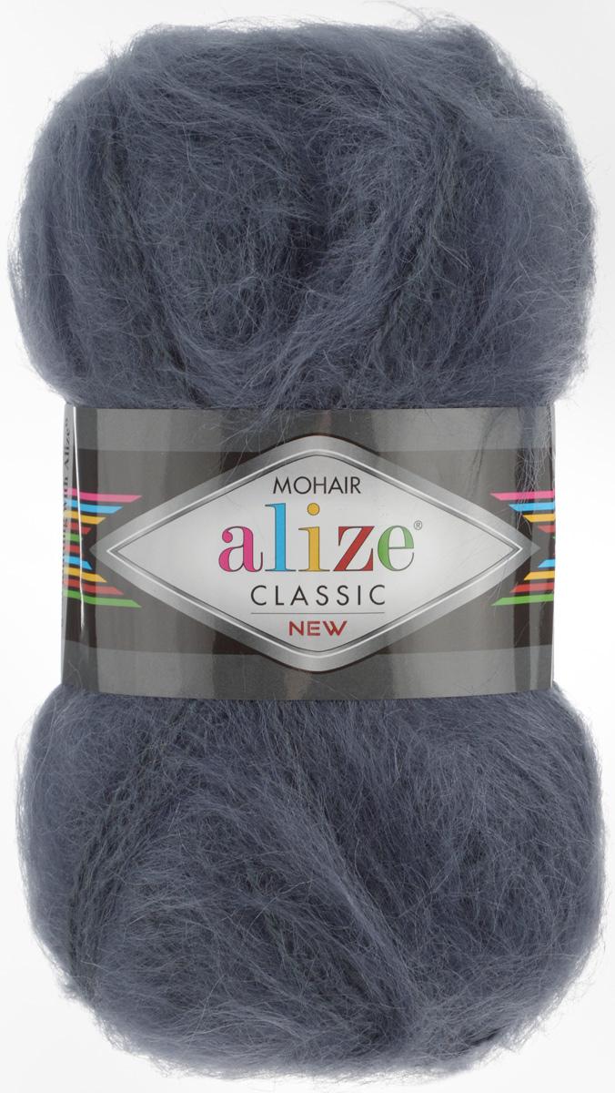 Пряжа для вязания Alize Mohair Classik New, цвет: темно-серый (53), 200 м, 100 г, 5 шт582105_53Пряжа Alize Mohair Classik New, выполненная из мохера и акрила, тонкая, мягкая, деликатная нить, хорошо скрученная. Отлично подходит для опытных вязальщиц и для начинающих рукодельниц. Высококачественная пряжа равномерно окрашена и не линяет. Прекрасно подходит для взрослой и детской зимней одежды. Состав: 25% мохер, 24% шерсть, 51% акрил. Рекомендованные спицы № 5-7, крючок № 2-4.