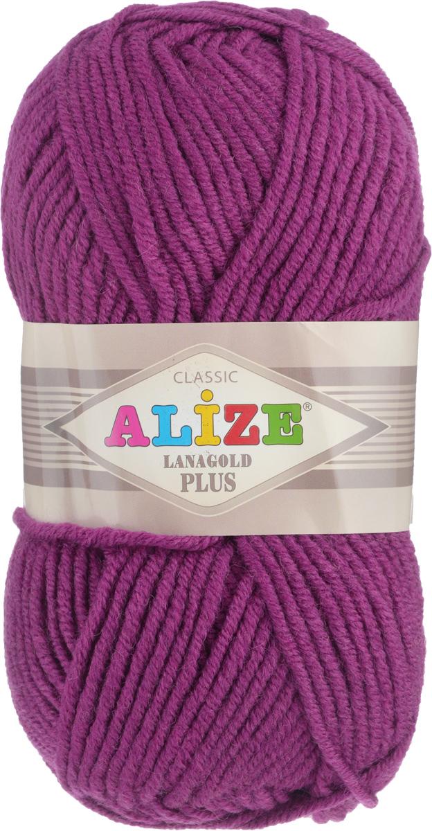 Пряжа для вязания Alize Lana Gold Plus, цвет: фуксия (50), 140 м, 100 г, 5 шт695158_50Пряжа Alize Lana Gold Plus - это полюбившаяся всем рукодельницам полушерстяная пряжа, которая прекрасно подойдет для вязания теплых вещей: уютных свитеров и мягких кофт, удобных и стильных платьев и сарафанов, ярких шарфов и шапочек. Сбалансированный состав пряжи Alize Lana Gold Plus позволяет получать мягкие, приятные к телу вещи, хранящие тепло натуральной шерсти и обладающие практичностью акриловой нити. Вязать из полушерстяной теплой пряжи легко и приятно - упругая, плотная нить красиво ложится в любой узор, не слоится и мягко скользит по спицам. Приятная цветовая гамма порадует любителей насыщенных, глубоких оттенков, которые так актуальны зимой. Легкая, мягкая, комфортная. Нить ровная, очень пышная, не линяет и не выгорает, подходит для вязания трикотажных изделий детям и взрослым. Изделия из этой пряжи получаются мягкие, очень легкие, износостойкие. Рекомендуются спицы: 5-7 мм. Комплектация: 5 мотков. Состав: 51% акрил, 49% шерсть.