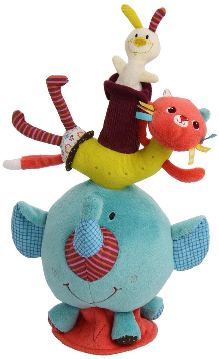Lilliputiens Развивающая игрушка Слоненок Альберт86382Развивающая игрушка Lilliputiens Слоненок Альберт предназначена для раннего развития мелкой моторики, осязания, реакции, ловкости и логических навыков. Игрушка полностью адаптирована для маленького возраста ребенка. Фигурки зверушек выполнены из безопасных, мягких и приятных для кожи малыша тканей разной фактуры. Отдельные элементы при движении издают шуршащий звук, привлекающий внимание и развивающий слух младенца. А яркая цветовая гамма положительно влияет на зрительный аппарат. Игрушка в виде слоника имеет удобную присоску для крепления на любой плоской поверхности - она помогает развить баланс. Умилительный дизайн чудесных зверят очаровывает с первого взгляда не только детей, но и их родителей. Продуманный внешний вид, состав материалов и развивающие элементы делают игрушку действительно уникальной.