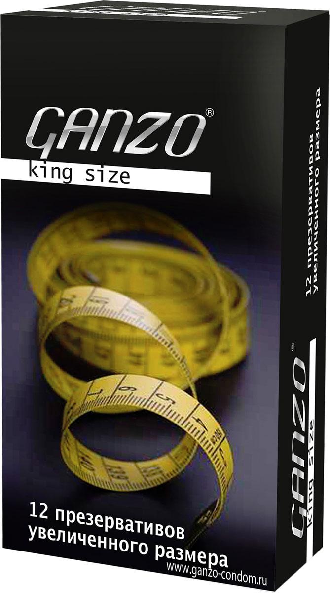 "Ganzo Презервативы ""King Size"", увеличенного размера, 12 шт"