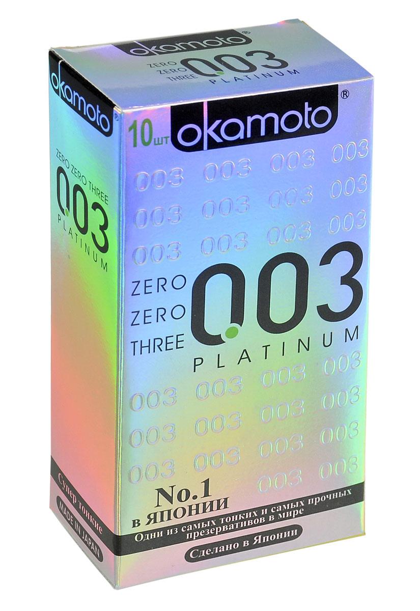 Okamоto Презервативы 0.03 Platinum, супер тонкие, 10 шт43961Прозрачные презервативы Okamato 0.03 Platinum цилиндрической формы с накопителем и силиконовой смазкой изготовлены из натурального высококачественного японского латекса. Самые тонкие и прочные латексные презервативы в мире. Обеспечивают максимальный уровень чувствительности. Проверены с использованием электростатической технологии для максимальной надежности. Характеристики: Материал презерватива: латекс. Количество презервативов: 10. Длина презерватива: 180 ± 7 мм. Ширина презерватива: 52 ± 2 мм. Толщина презерватива: 0.03 ± 0.01 мм. Производитель: Япония. Товар сертифицирован.
