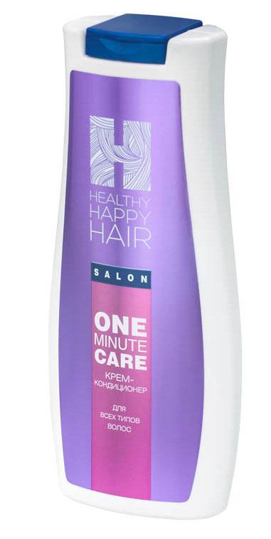 Healthy Happy Hair Крем-кондиционер для волос One minute care, 240 гC102-402Легкий, смываемый кремовый кондиционер мгновенного действия. Придает волосам выраженный блеск, гладкость, послушность в укладке. При регулярном использовании укрепляет структуру волос, повышает увлажненность, помогает дольше сохранять цвет волос между окрашиваниями. Без силиконов. Для всех типов волос. Prodew 500 - комплекс из одиннадцати аминокислот (аналогичный аминокислотному составу клеточно-мембранного комплекса человеческого волоса), увлажняет, укрепляет структуру волос, ремонтирует поверхностные повреждения, препятствует вымыванию пигмента из стержня волоса. KeraDynтм HH - инновационная формула для восстановления внешнего липидного слоя стержня волоса. Улучшает внешний вид и структуру поврежденных, окрашенных волос, придает им динамические характеристики здоровых волос.