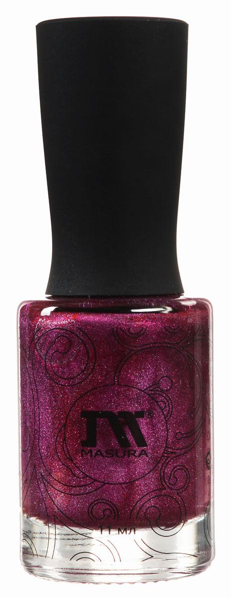 Masura Лак для ногтей Драгоценные камни Шелковая Дымка, 11 мл904-188Лак роскошного красного цвета с малиновым подтоном и плотным красным мерцанием