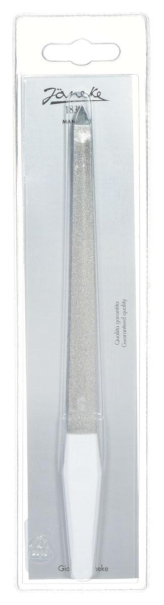 Janeke Пилка для ногтей, цвет: белый, серебристый. MP137548498Маникюрная пилка для ногтей от Janeke изготовлена из стали Solingen, для придания формы и выравнивания края ногтей. Высококачественное покрытие пилки обеспечивает идеальную обработку ногтя и долгий срок службы. Товар сертифицирован.