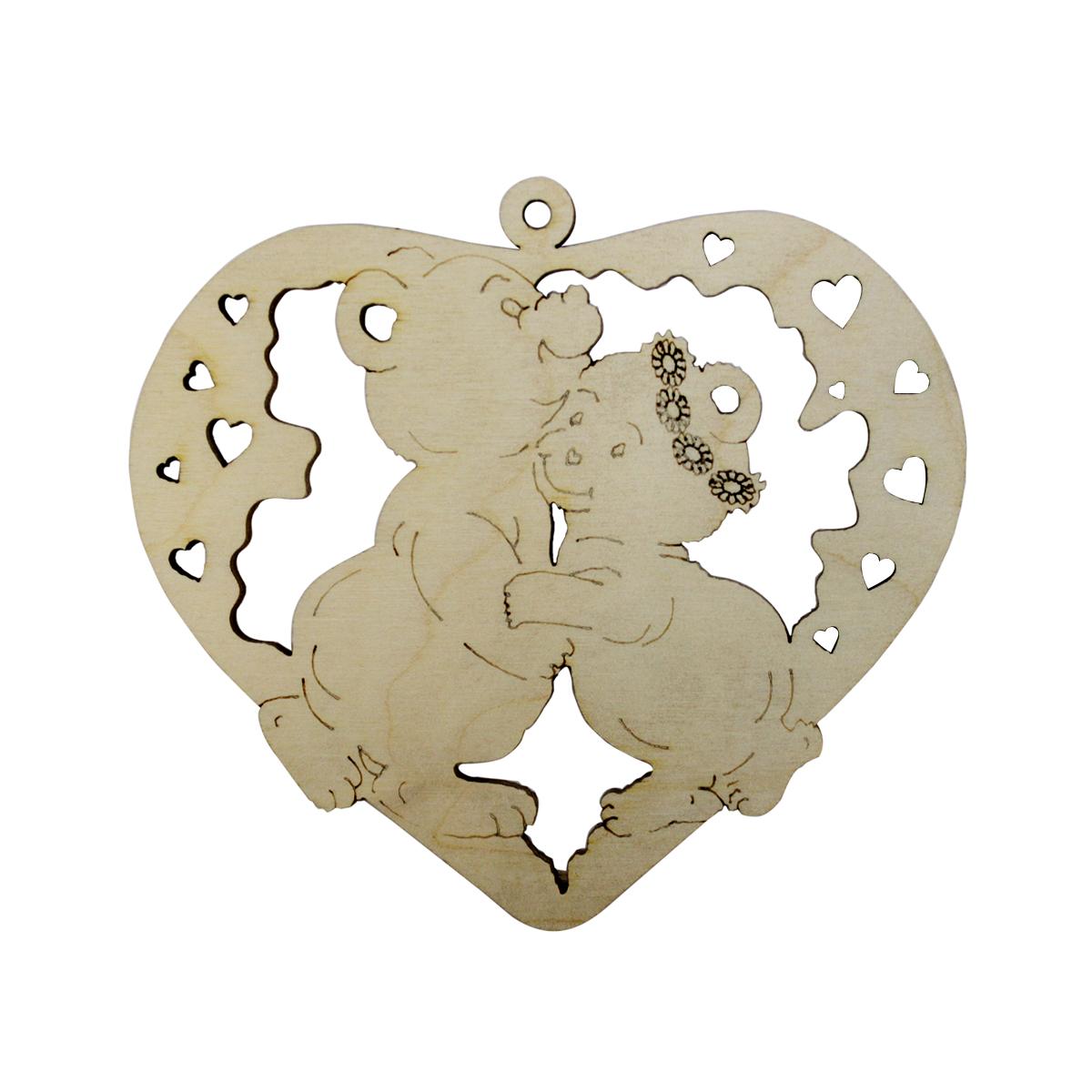 Деревянная заготовка Астра Сердце с мишками, 11 x 10 см484596Заготовка Астра Сердце с мишками, изготовленная из дерева, станет хорошей основой для вашего творчества. Заготовку можно украсить бисером, блестками, тесьмой, кружевом - возможности не ограничены. Творческий процесс развивает воображение, учит видеть сказку в обыденных вещах, ведь для нее всегда есть место в нашей жизни! Заготовка Астра Сердце с мишками станет идеальным украшением интерьера вашего дома и отличным подарком для вас и ваших близких.