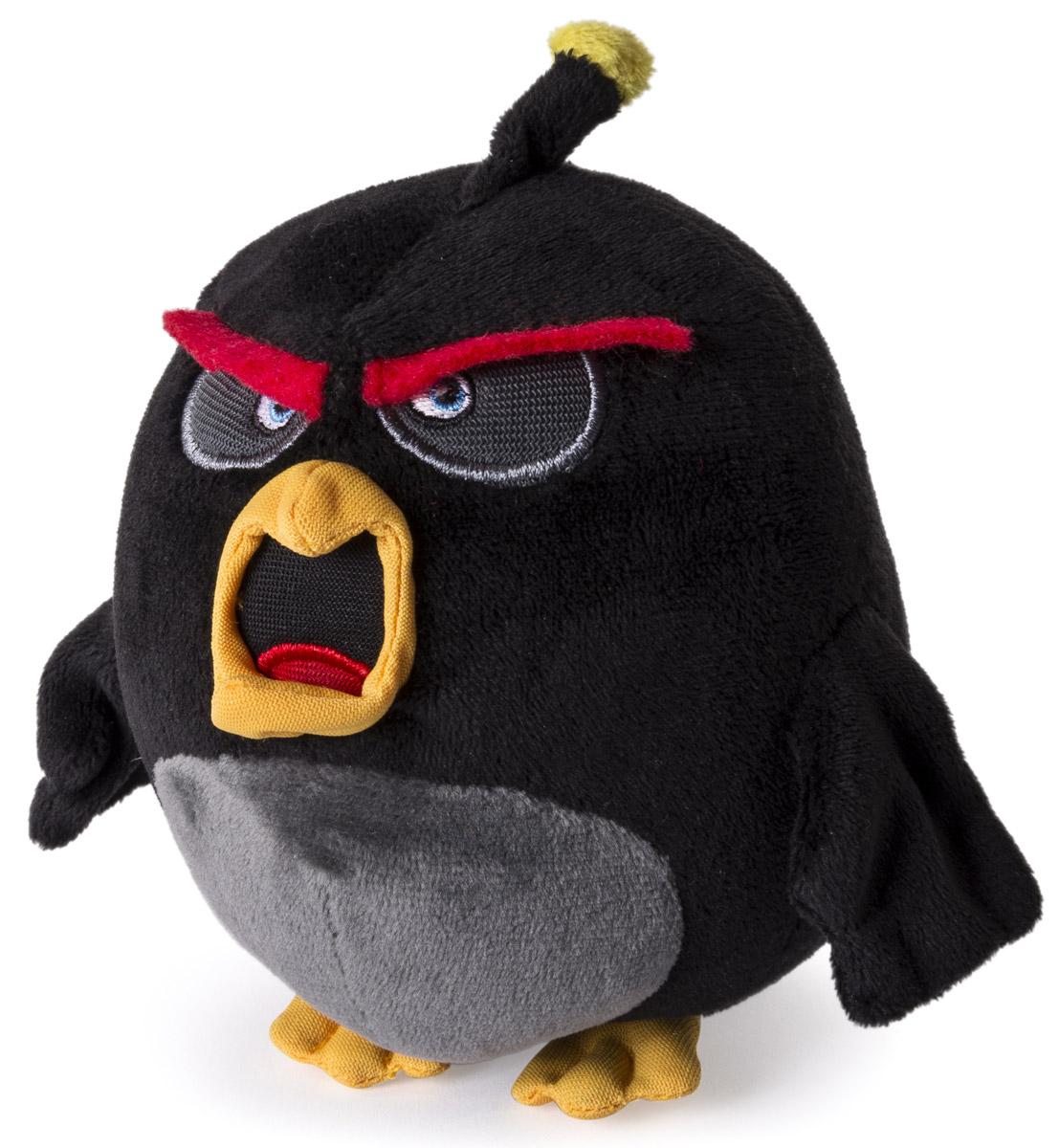 Angry Birds Мягкая игрушка Птица Bomb 13 см90513_чёрныйМягкая игрушка Angry Birds Птица Bomb подарит вашему ребенку много радости и веселья. Удивительно приятная на ощупь игрушка выполнена в виде всем известного персонажа из популярной игры Angry Birds - взрывной птицы по имени Bomb. Чудесная мягкая игрушка непременно поднимет настроение своему обладателю и станет замечательным подарком к любому празднику.
