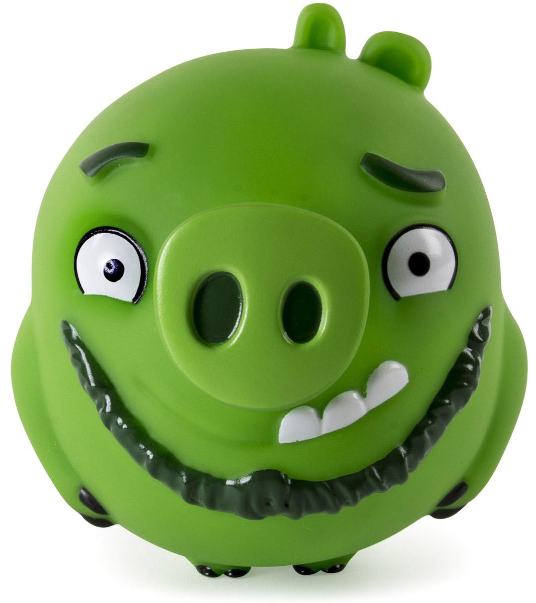 Angry Birds Фигурка Свинка-шарик Leonard90503_LeonardПтичка-шарик Angry Birds Leonard создана по мотивам популярнейшей во всем мире компьютерной игры Angry Birds! Эта игра настолько полюбилась и детям, и взрослым, что по ее сюжету стали рисовать мультфильмы. И вот, наконец, созданы игрушки в виде этих смешных персонажей, которыми можно кидаться, запускать из рогаток и играть как с обычными мячиками! Игрушка представляет собой шарообразный мячик размером около 10 см, изготовленный из винила, в виде зеленой свиньи. Мячик очень упругий, но достаточно мягкий - легко сжимается в руке, прыгает, отскакивает от поверхностей. Пригласите друзей и устройте собственную битву птичек и поросят!