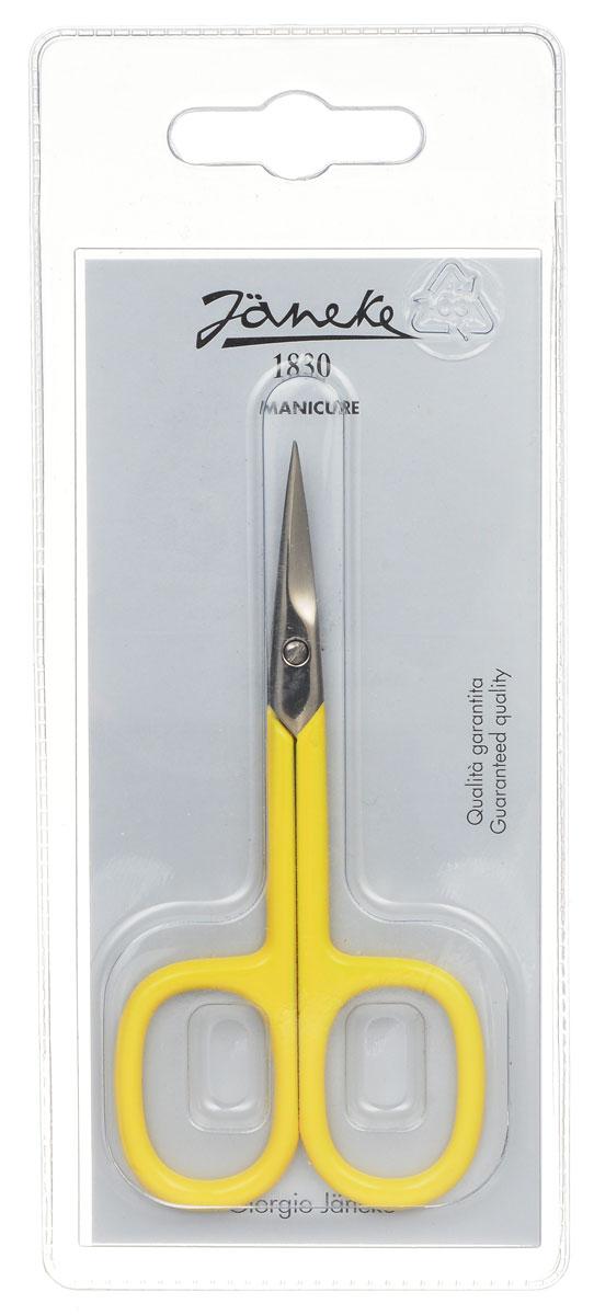 Janeke Ножницы маникюрные, закругленные, цвет: желтый. MP118C699429_желтыйМаникюрные ножницы Janeke изготовлены из высококачественного металла и предназначены как для домашнего использования, так и в области профессионального маникюра. Лезвия плотно сходятся, режут точно и с минимумом усилий. Товар сертифицирован.