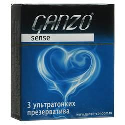 """Ganzo Презервативы """"Sense"""", ультратонкие, 3 шт"""