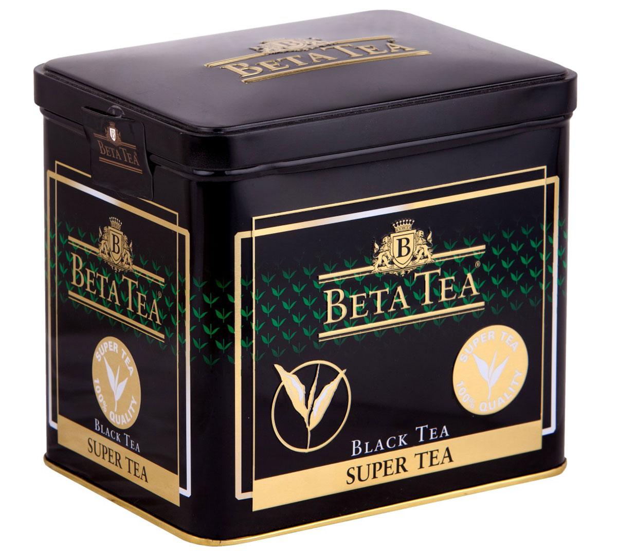 Beta Tea Super Tea черный листовой чай с бергамотом, 100 г8690717005249Мелколистовой чай Beta Tea Super Tea с лучших плантаций Цейлона подарит вам блаженство и умиротворение. Насладитесь крепостью и ароматом этого изящного сорта чая.
