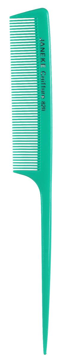 Janeke Расческа для волос, цвет: зеленый542955_зеленыйОригинальная небольшая расческа Janeke выполнена из пластика. Тонкие частые зубчики превосходно разделяют и разглаживают волосы, а длинная ручка обеспечит комфорт и удобство при использовании. Практичная расческа имеет лаконичный классический дизайн. Она станет незаменимым аксессуаром, а благодаря небольшому размеру, без труда поместится в сумочке или косметичке.