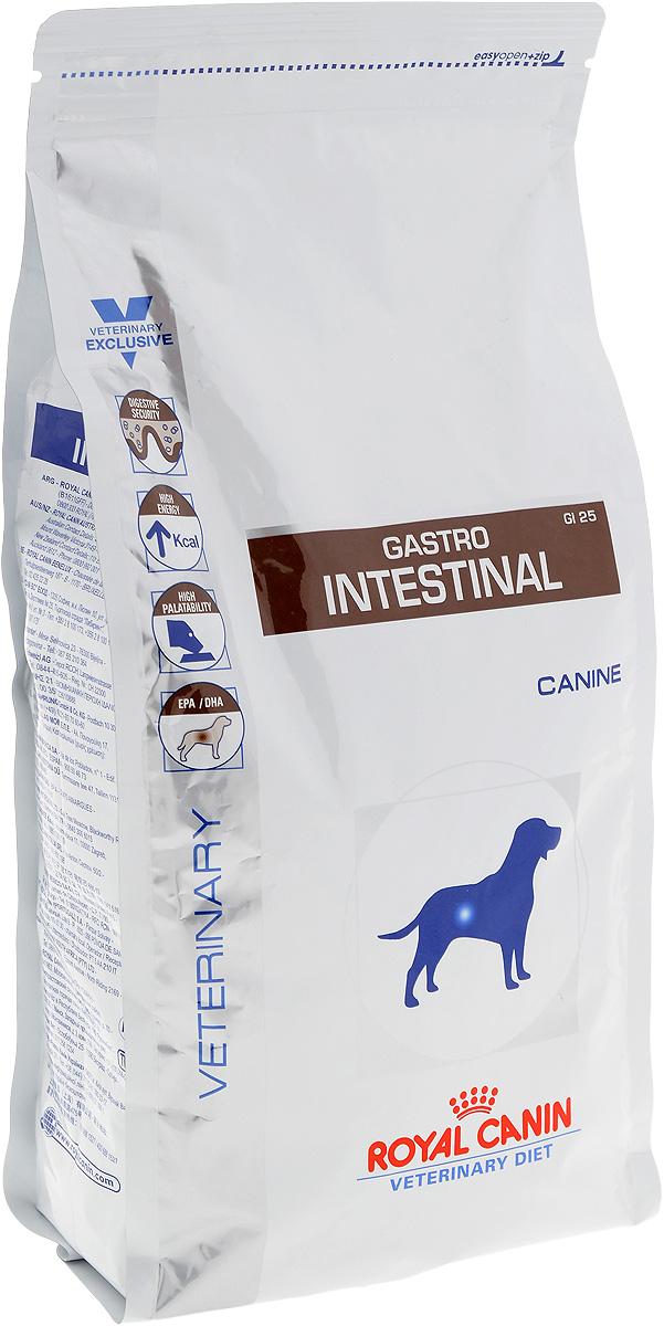 Корм сухой диетический Royal Canin Gastro Intestinal GI25 для собак, при нарушениях пищеварения, 2 кг23559Сухой корм для собак Royal Canin Gastro Intestinal GI25 - полноценный диетический рацион, рекомендуемый для собак в период лактации, при острых расстройствах пищеварения, в период выздоровления и при истощении. Показания к применению: Острая и хроническая диарея Хроническое воспаление кишечника Плохая переваримость и абсорбция питательных веществ Восстановительный период после болезни Пролиферация бактерий в тонком кишечнике Экзокринная недостаточность поджелудочной железы Колит Гастрит Анорексия. Противопоказания: Панкреатит (в том числе перенесенный ранее) Гиперлипидемия Лимфангиэктазия Печеночная энцефалопатия Заболевания, при которых рекомендована низкокалорийная диета. Рекомендации по кормлению: - использовать теплую воду (50°C); - залить крокеты небольшим количеством воды; - подождать 10-15 минут, чтобы крокеты приобрели нужную для потребления структуру...