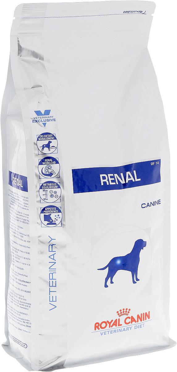 """Корм сухой диетический Royal Canin """"Renal RF14"""" для собак при хронической почечной недостаточности, 2 кг 22252"""