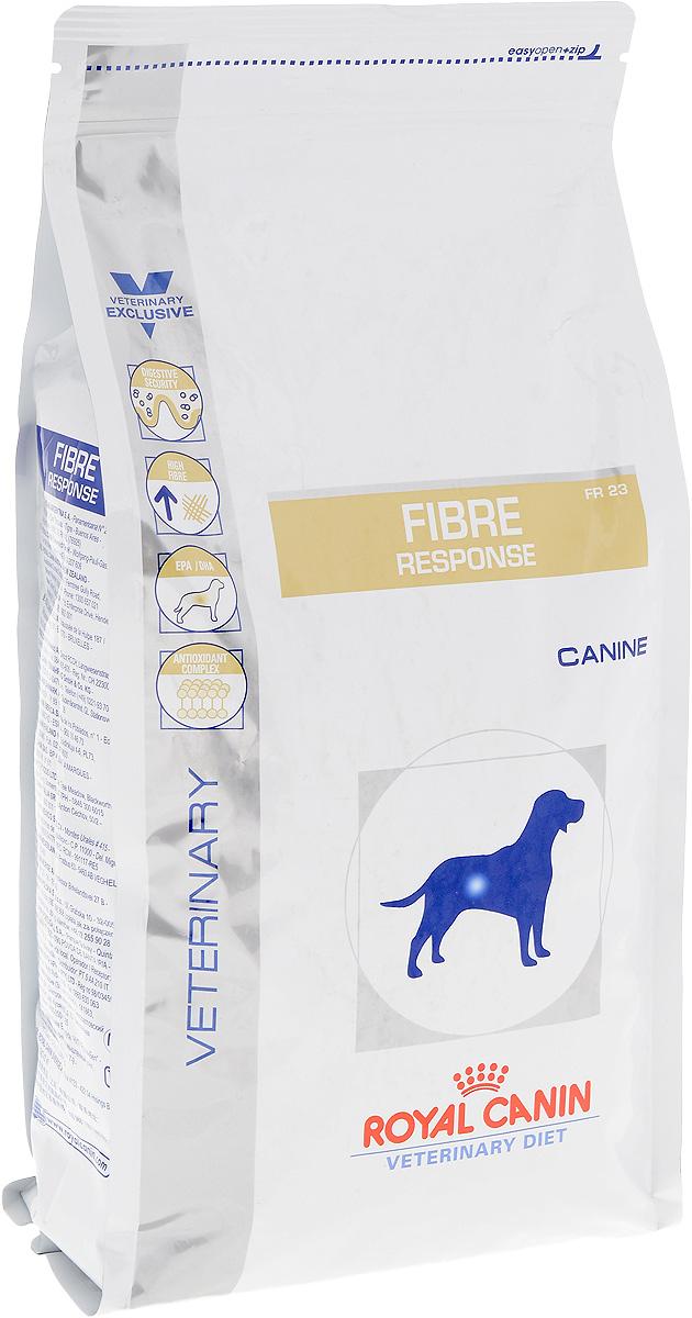 Корм сухой диетический Royal Canin Fibre Response FR 23 для собак, при нарушении пищеварения, 2 кг22254Сухой корм для взрослых собак Royal Canin Fibre Response FR 23 - полноценный диетический рацион с повышенным содержанием клетчатки, рекомендуемый при нарушении пищеварения. Показания к применению: - колит (форма, поддающаяся диетотерапии с повышенным содержанием клетчатки); - стрессовая диарея; - запор; - нарушения, при которых рекомендована диета с повышенным содержанием клетчатки. Противопоказания: - кишечная непроходимость; - расширение толстого кишечника (мегаколон). Длительность курса применения: Длительность применения диеты варьируется в зависимости от тяжести симптомов нарушения пищеварения. Суточную норму кормления рекомендуется разделить на две порции. Состав: рис, растительная клетчатка, дегидратированное мясо птицы, животные жиры, кукуруза, кукурузная клейковина, пшеница, гидролизат белков животного происхождения, минеральные вещества, дегидратированные белки животного происхождения...