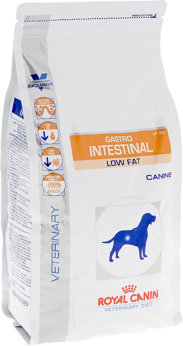 Корм сухой Royal Canin Gastro Intestinal. Low Fat LF22 для собак, при нарушении пищеварения, c пониженным содержанием жира, 1,5 кг59573Royal Canin Gastro Intestinal GL3 - это полнорационный диетический корм для собак, способствующий регуляции метаболизма липидов при гиперлипидемии. Этот продукт содержит малое количество жиров и высокий уровень основных жирных кислот. Показания к применению: - острая и хроническая диарея; - острый и хронический панкреатит; - пролиферация бактерий в тонком кишечнике; - гиперлипидемия; - лимфангиэктазия - экссудативная энтеропатия; - экзокринная недостаточность поджелудочной железы; Противопоказания: - беременность и лактация. Длительность курса применения. Длительность применения диеты варьируется в зависимости от тяжести симптомов нарушения пищеварения. Для оптимальной работы пищеварительной системы необходимо соблюдение суточного рациона и увеличение его кратности кормлений в день. Безопасность пищеварительной системы. Сочетание высококачественных белков с высокой степенью усвояемости...