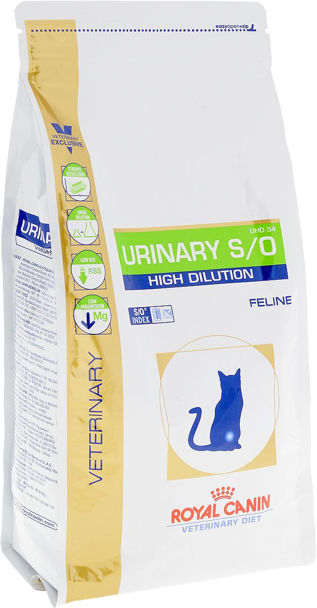 """Корм сухой диетический Royal Canin """"Urinari Hich Dilution UHD34"""" для кошек, при лечении мочекаменной болезни, 1,5 кг 22900"""
