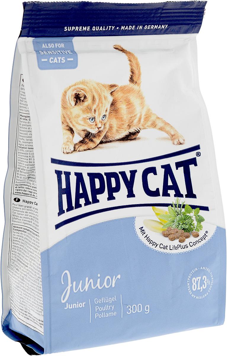 "Корм сухой для котят Happy Cat ""Junior"", 300 г 70002_белый, голубой"