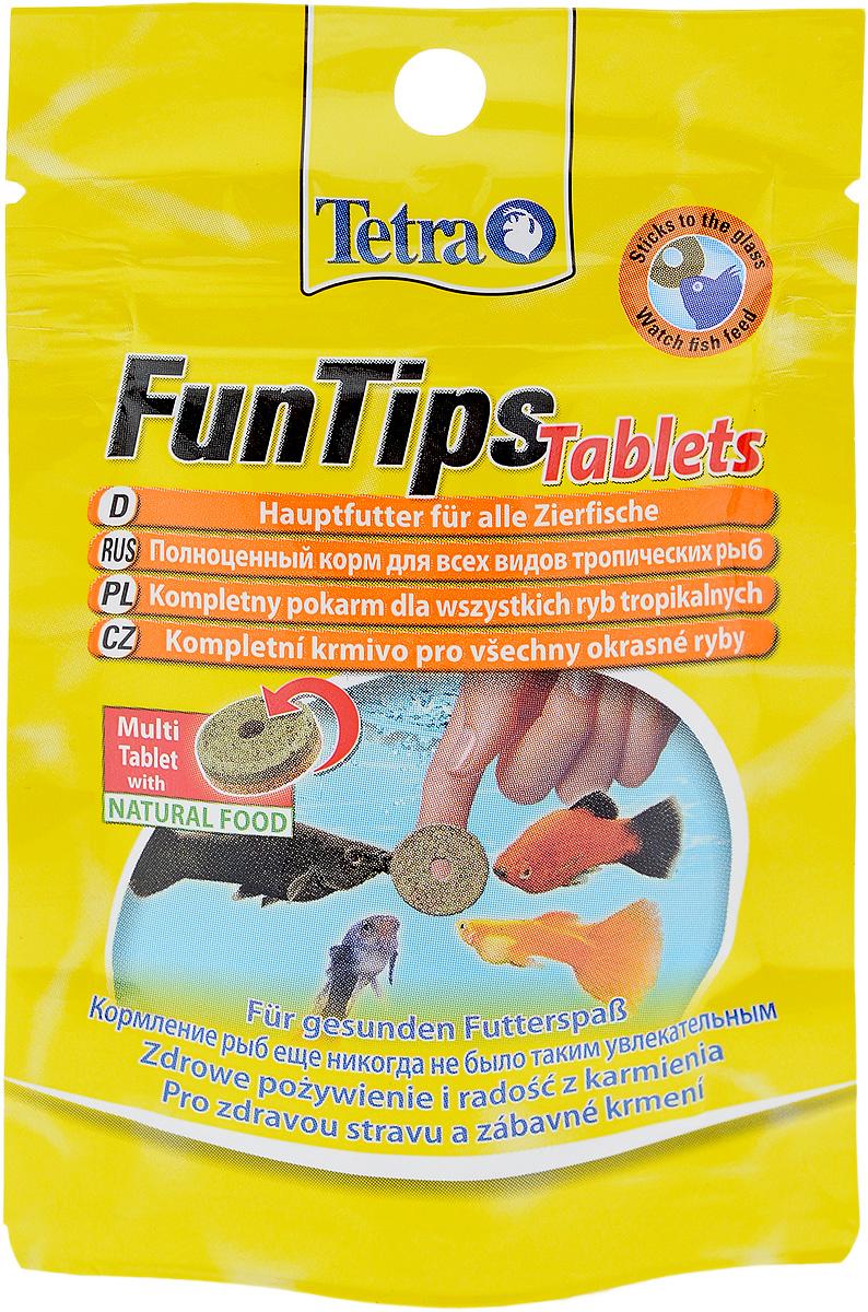 Корм Tetra FunTips Tablets для всех видов тропических рыб, 8 г, 20 таблеток254305Корм Tetra FunTips Tablets - это полноценный корм для всех видов тропических рыб, состоящий из хлопьев и сублимированных микроорганизмов и спрессованный в виде таблеток. Корм уникален тем, что может быть приклеен к аквариумному стеклу. Таблетки прикрепляются к стеклу, что предоставляет хозяину аквариума возможность наблюдать за рыбками в период кормления. Применение: кормить несколько раз в день маленькими порциями. Состав: молоко и молочные продукты, моллюски и ракообразные (в том числе дафния 9,5%, артемия 6%, гаммарус 4,5%, ракообразные 2%), рыба и побочные рыбные продукты, растительные экстракты белка, зерновые, дрожжи, водоросли (спирулина 1,8%), масла и жиры, сахар, минеральные вещества. Товар сертифицирован.